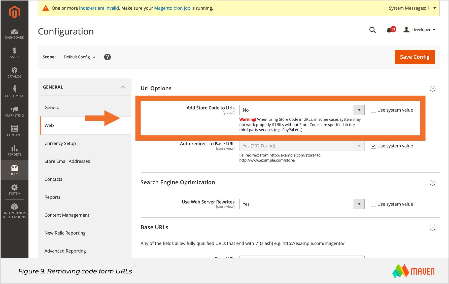 Magento SEO Figure 9 Removing code form URLs