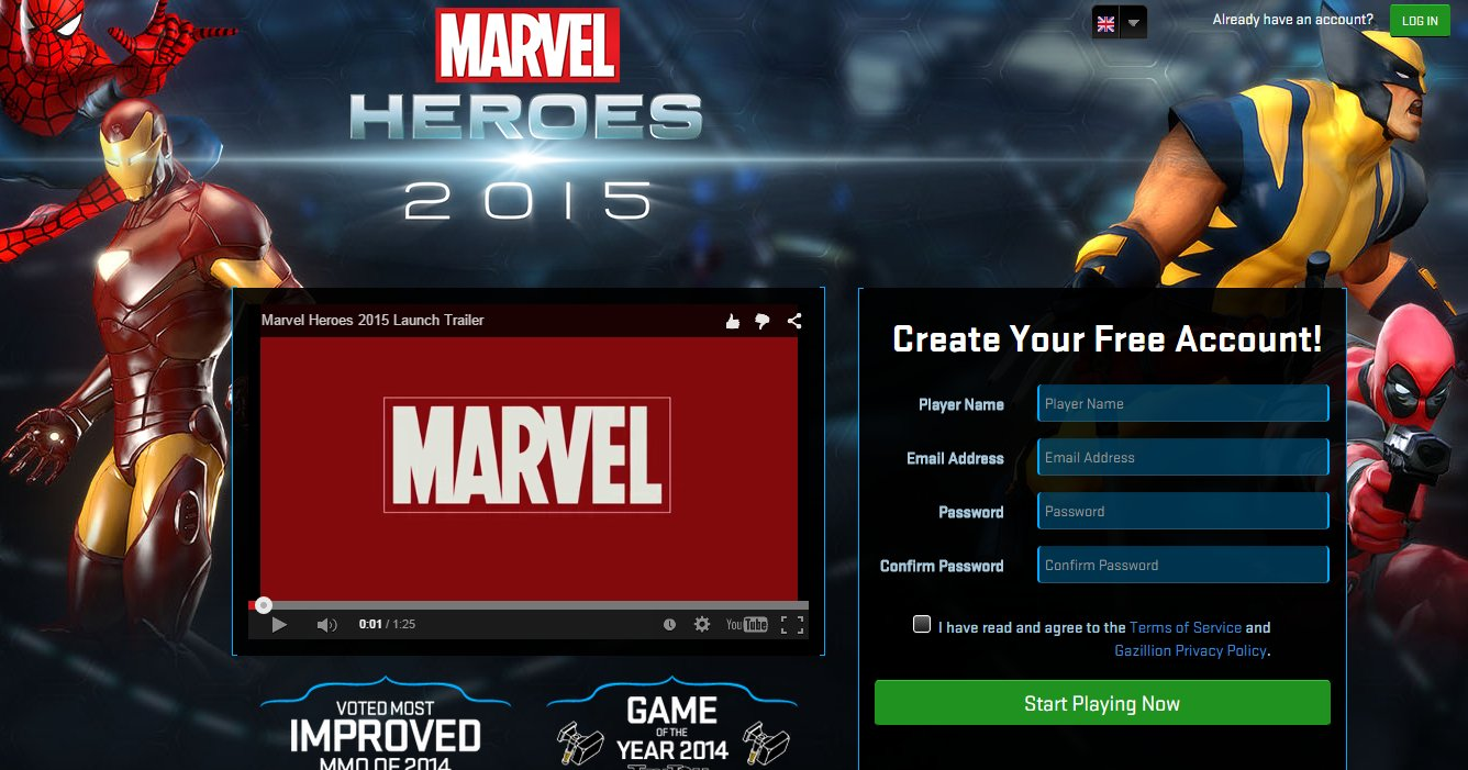 Marvel Heroes use Magento