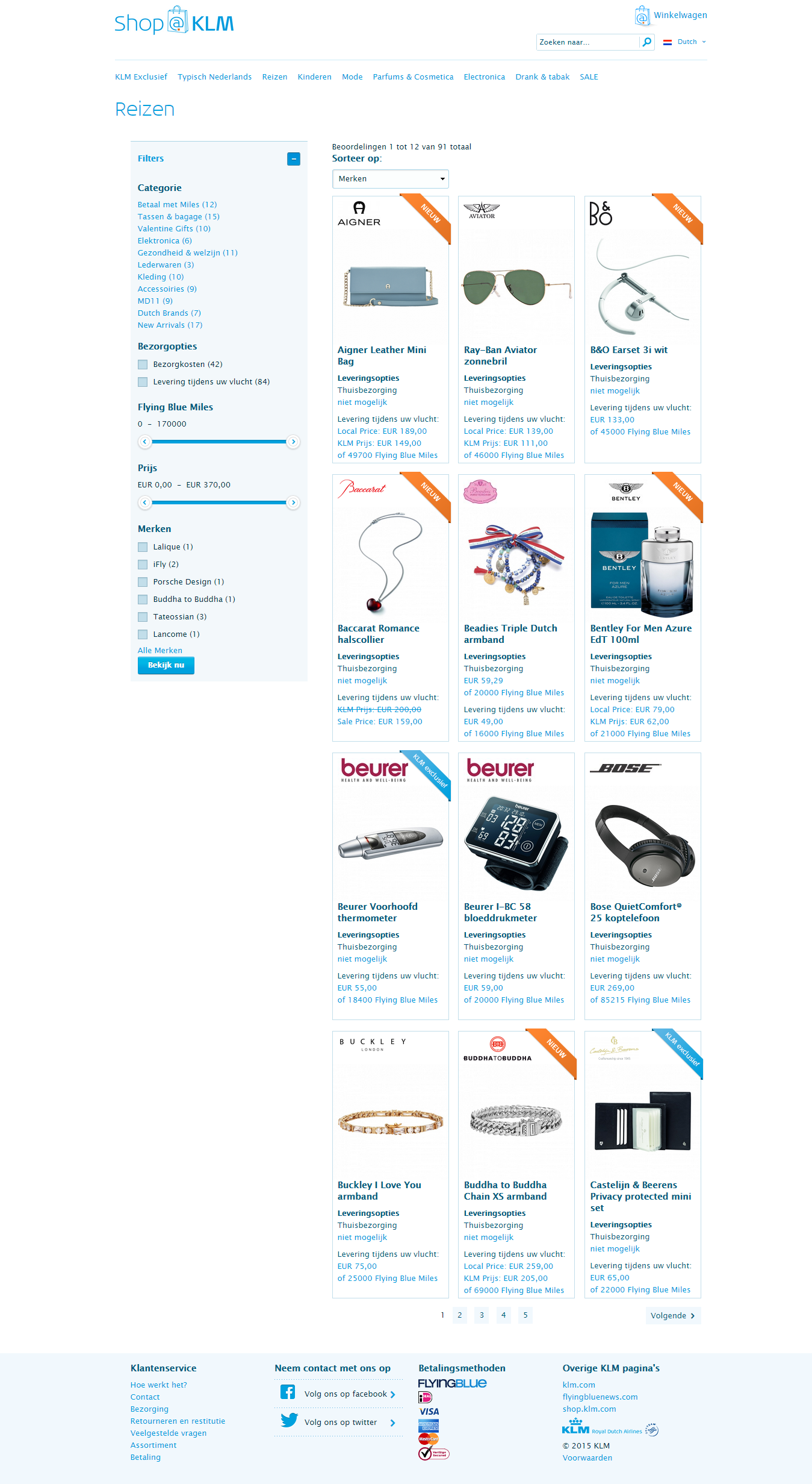 klm shop products