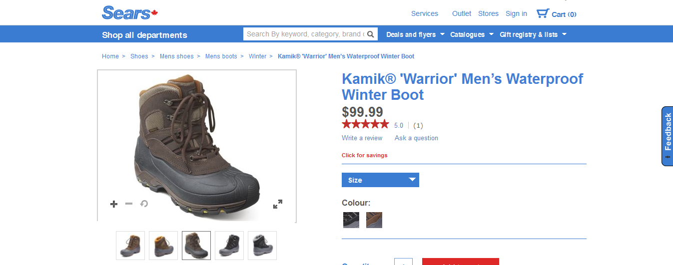 sears product page