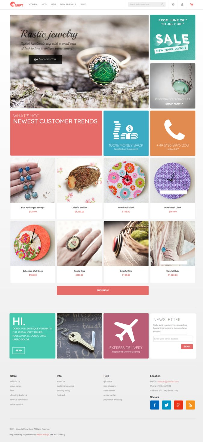 Crafts 2.0 Magento Theme