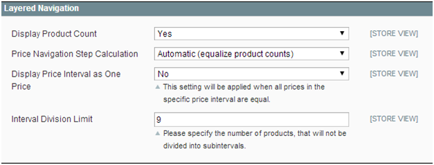 magento layered navigation equalize product counts