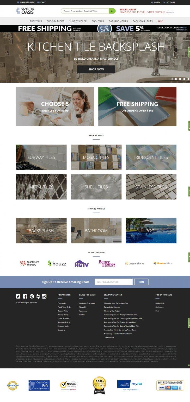 glass tile oasis homepage
