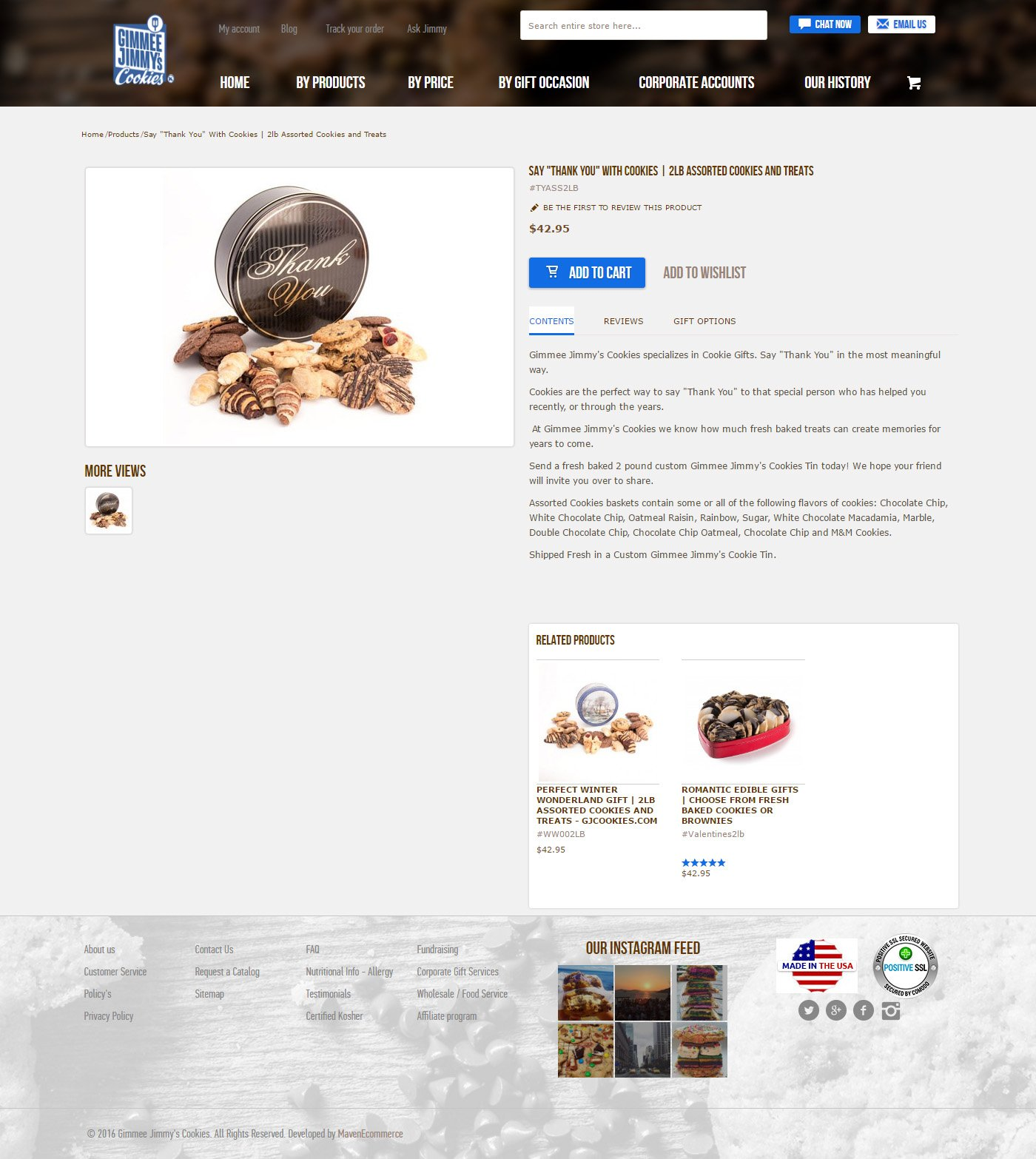 gimmee cookies product page