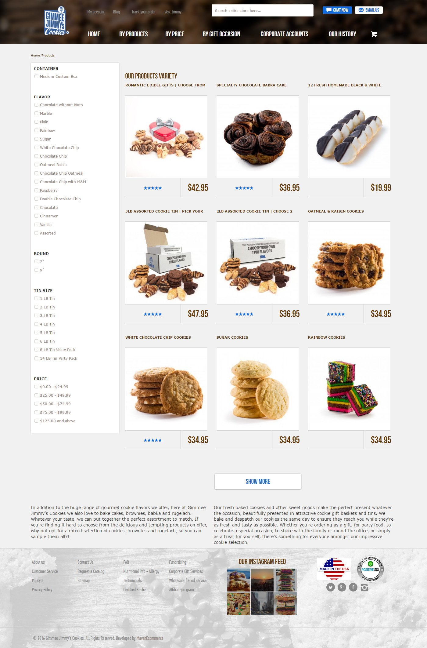 gimmee cookies products