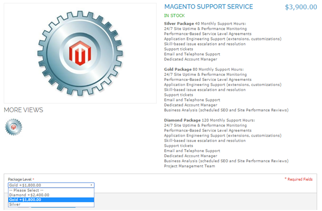 magento virtual product frontend