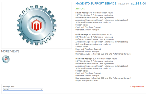magento virtual product price frontend