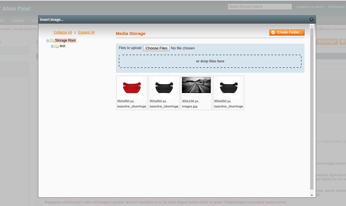 Magento HTML5 Uploader media storage