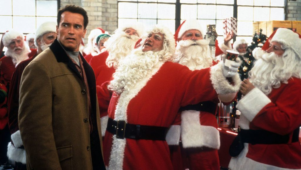 Jingle All the Way (1996) Directed by Brian Levant Shown: Arnold Schwarzenegger, James Belushi