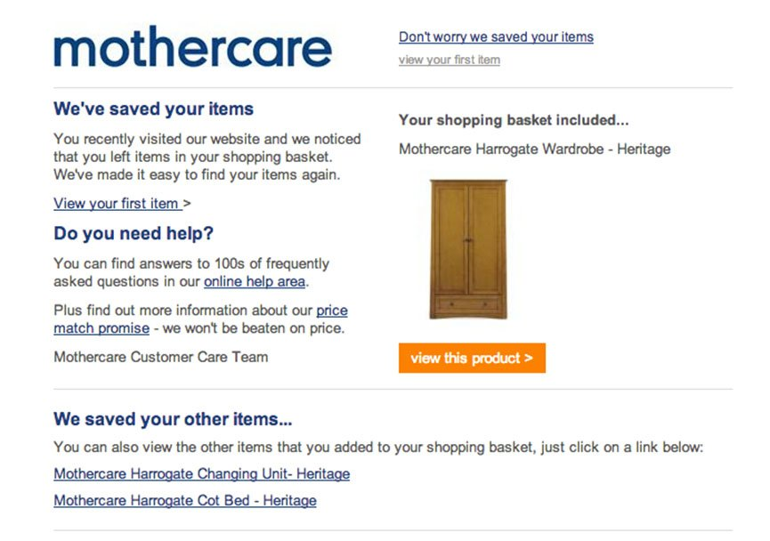 abandoned cart email1 - reminder