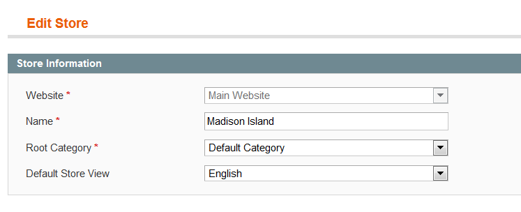 magento issues correct root category
