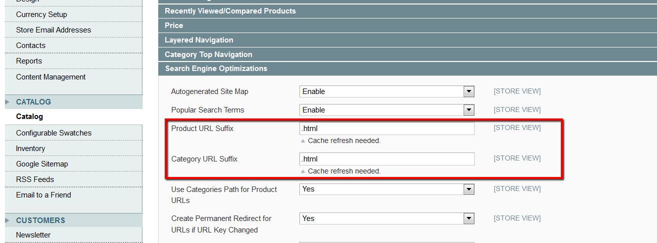 magento issues remove html from urls in magento