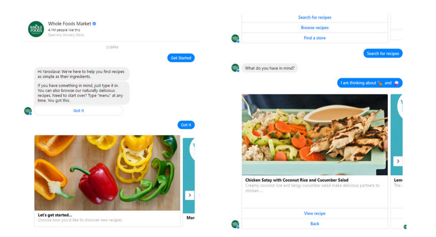 whole foods chatbot