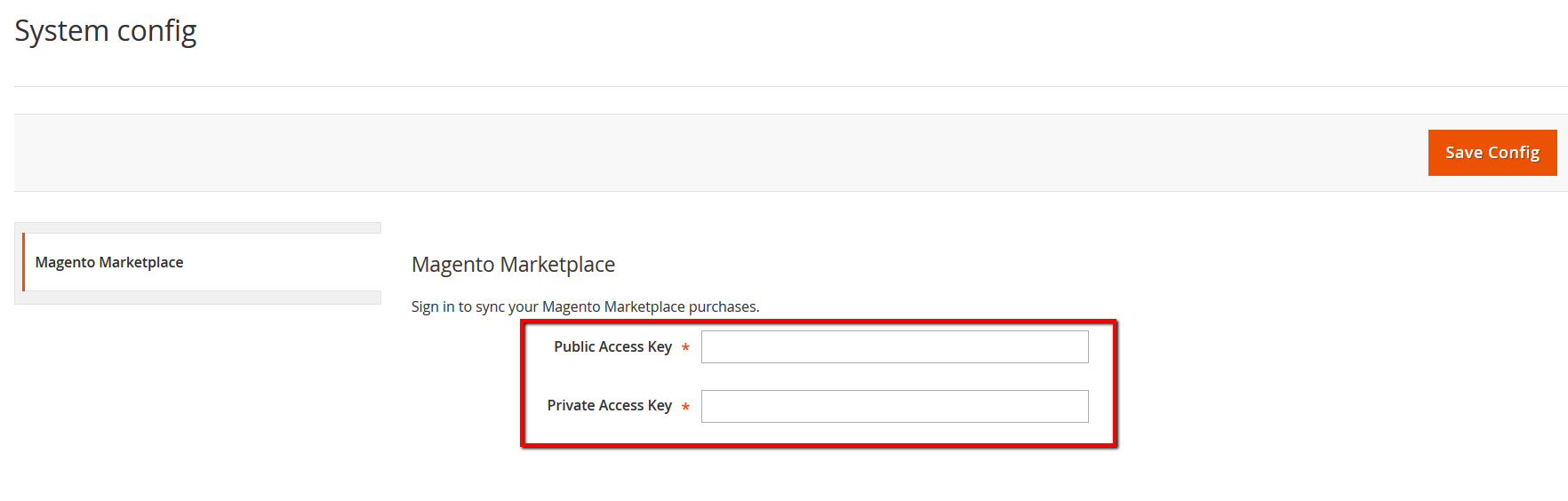 magento 2 authentication keys