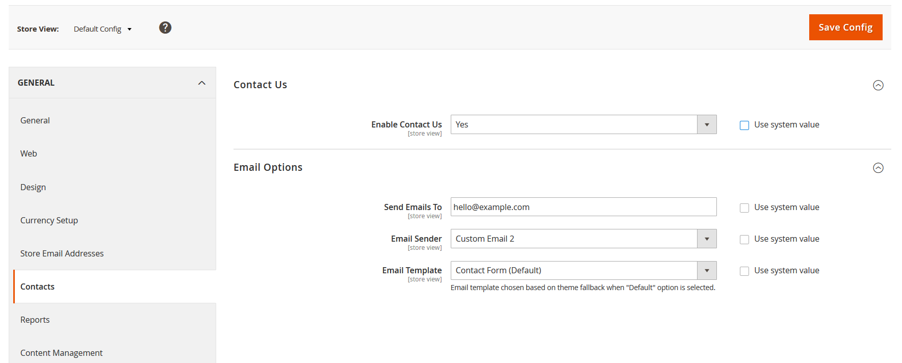 magento 2 contact us form